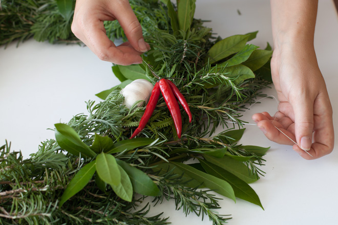 How To Make A Herbal Wreath