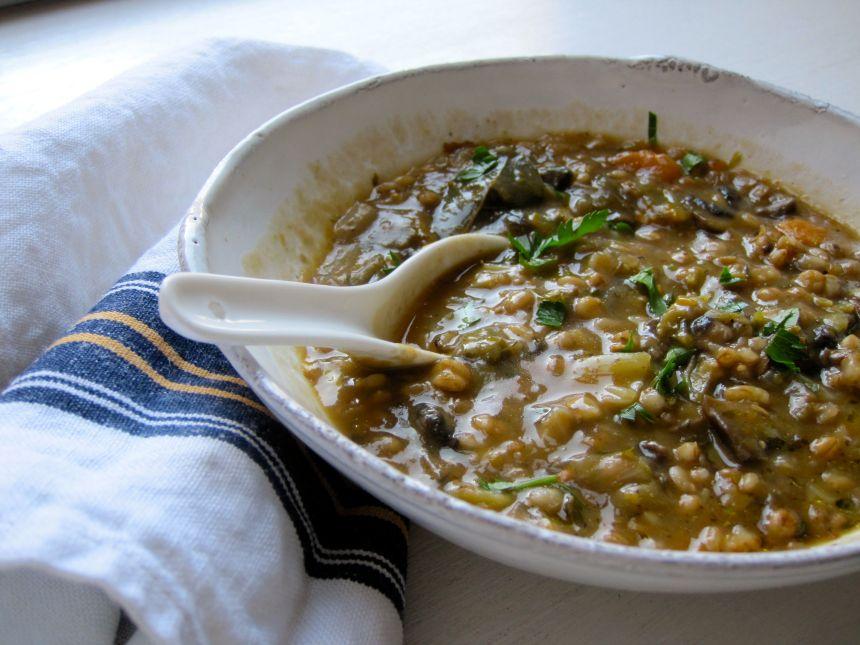 mushroom barley soup