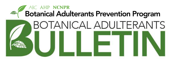 Aloe Vera Bulletin Published by Botanical Adulterants PreventionProgram